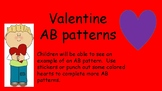 valentine AB pattern for preschoolers
