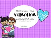 valentine worksheets