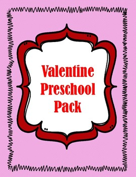 valentine preschool pack