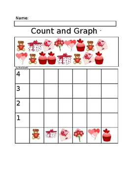 valentine's day count and graph graphing worksheet