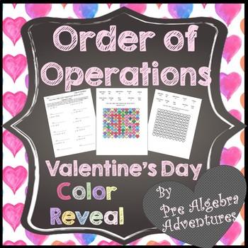 Valentine's Day Algebra Activity {PEMDAS} {Valentines Day Order of Operations}