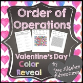 Valentine's Day Order of Operations {PEMDAS Activity} {Coloring Sheet}