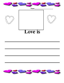 valentine's day Love Is and I feel loved when writing pages.