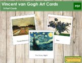 van Gogh (Vincent) 3-Part Art Cards