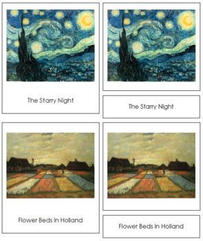 van Gogh (Vincent) 3-Part Art Cards