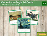 van Gogh (Vincent) 3-Part Art Cards - Color Borders