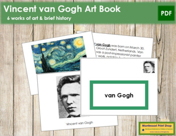 van Gogh (Vincent) Art Book - Color Border