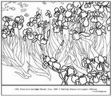van Gogh, Vincent.  Irises.  Coloring page and lesson plan ideas