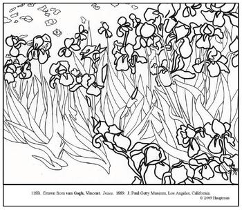 van gogh for coloring pages - photo#22