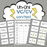 vc/cv Reading Fluency Game Uh-Oh!