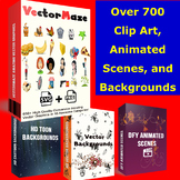 VECTORMAZE- Over 700 images, Backgrounds, and more for TPT