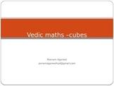 vedic maths -cubes
