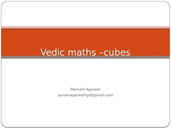 vedic maths -cubes