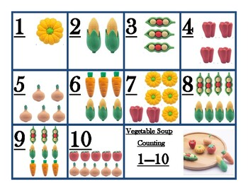 vegetable counting 1-10