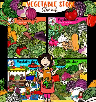 Vegetable Store-clip art- 122 images!!