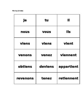 venir &c activities FRENCH