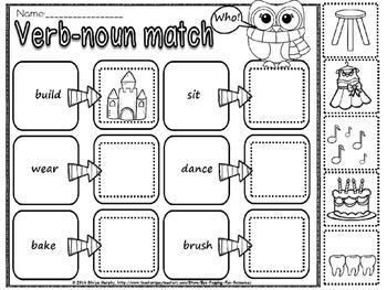verb and noun match(free)