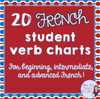 French verb conjugation charts for beginning to advanced learners