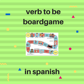 verb to be boardgame in Spanish / juego verbo ser en español.
