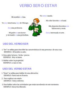 verb to be in Spanish / verbo ser o estar en español.