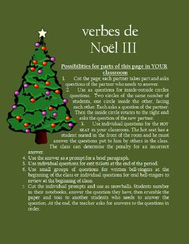 verbes de Noel III