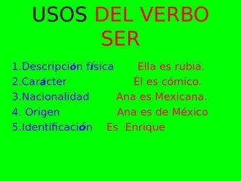 verbo ser versus verbo estar