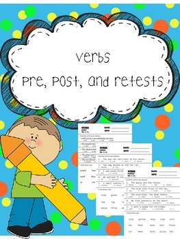 verbs pre, post, and retests