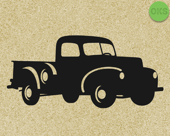 vintage farm pickup truck SVG cut files, DXF, vector EPS cutting file