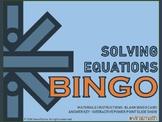 Interactive Solving Equations Bingo Game