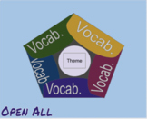 virtual Digital foldable for five vocabulary terms