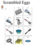 visual recipe for Scrambled Eggs for students with disabil
