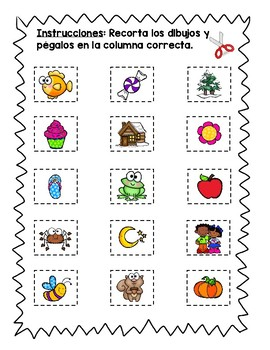 vivo o no vivo clasificar/ living nonliving sort in Spanish and English