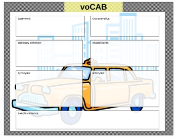 voCAB   Visual Organizer