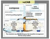 voCAB  compose ( test taking vocabulary )