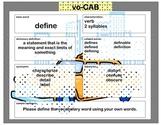 voCAB  define ( test taking vocabulary )