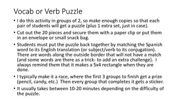 vocab puzzle - clothing, shopping, prices