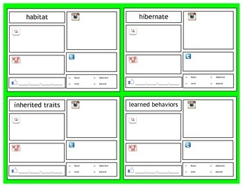 Inherited Traits & Learned Behaviors Vocabulary | 5th Science