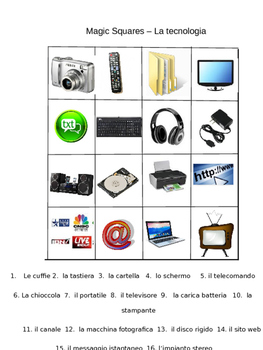 vocabolario: La tecnologia