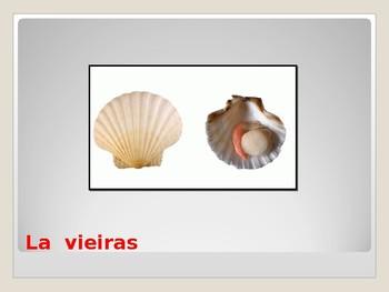 vocabualrio  los mariscos