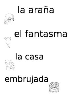 vocabulario de halloween en espanol