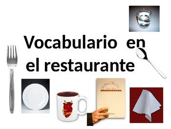 vocabulario el restaurante