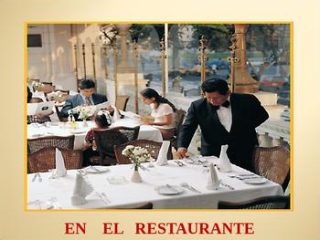 vocabulario en el restaurante