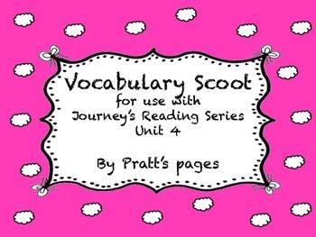 Journey's Second Grade Unit 4 vocabulary scoot