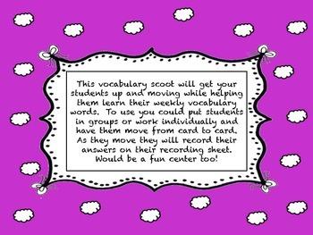 Journey's Second Grade Unit 5 vocabulary scoot