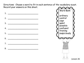 Journey's Second Grade Unit 6 vocabulary scoot