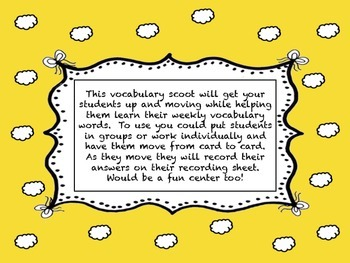 Journey's Second Grade Unit 6 vocabulary scoot