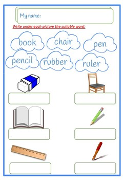 vocabulary  classroom English