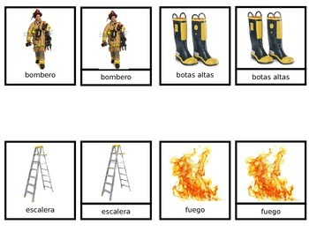 vocabulary firefighter - vocabulario bombero
