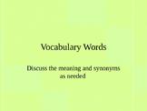 vocabulary flash cards