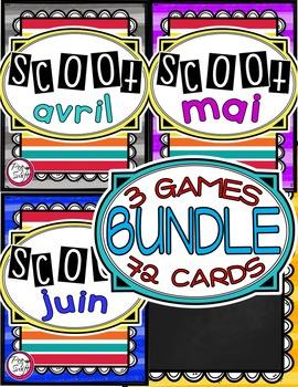 French Vocabulary Game - SCOOT BUNDLE avril à juin